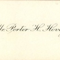 Image of 1982.669 - Sympathy Card Sent by Mr. Porter H. Hovey
