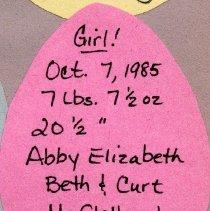 Image of 2011.98 - Abby Elizabeth McClelland