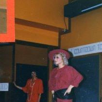 Image of 2011.98 - Dawn Whiteman Modeling Daffodil Fashion