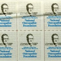 Image of 2011.98 - National Osteopathic Foundation Stamps