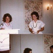 Image of 2011.98 - Megan Wentland and Vickie Taylor at Senior Banquet