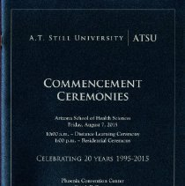 Image of 2015.48 - Arizona School of Health Sciences Commencement Program