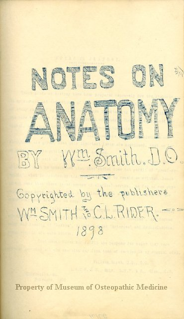 199742 Notes On Anatomy