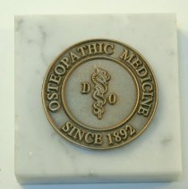 Image of 2015.54 - Osteopathic Medicine Paperweight