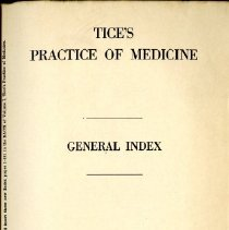 Image of Tice's Practice of Medicine General Index