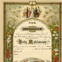 Image of 2009.62 - Holy Matrimony Page from Still Family Bible