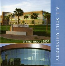 Image of 2015.63 - A.T. Still University 2007 Annual Report Summary