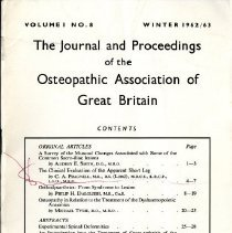 Image of 1995.31 - The Journal and Proceedings of the Osteopathic Association of Great Britain Vol. 1 No. 8