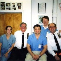 Image of 2016.04 - David Abend With Doctors and Police Department