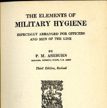 Image of The Elements of Military Hygiene, 3rd Edition
