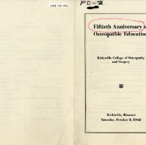Image of 2009.49 - Fiftieth Anniversary of Osteopathic Education
