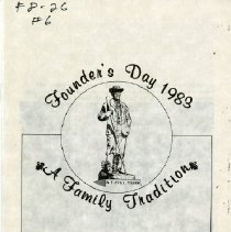 Image of Founder's Day 1983: A Family Tradition Program