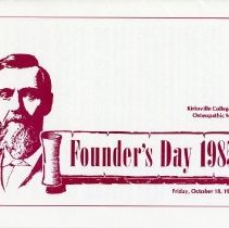 Image of Founder's Day 1985 Program