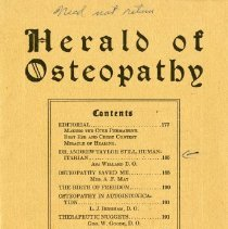Image of 2008.58 - Hearld of Osteopathy