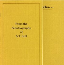 Image of 2008.58 - With No Further Remarks...From the Autobiography of A.T. Still