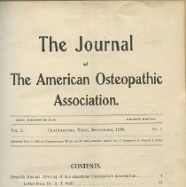 Image of 2016.45 - Journal of the American Osteopathic Association Volume 3, 1903-1904