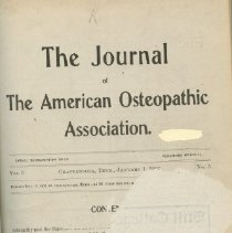 Image of 2016.45 - Journal of the American Osteopathic Association Volume 6, 1907