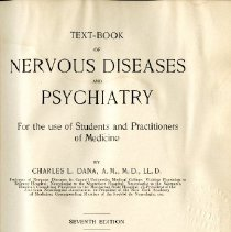 Image of Textbook of Nervous Diseases and Psychiatry, 7th Edition