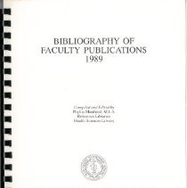 Image of 2011.69 - Bibliography of Faculty Publications 1989