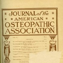 Image of 2016.45 - Journal of the American Osteopathic Association Volume 9, 1910