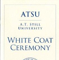 Image of MOSDOH Class of 2020 White Coat Ceremony Program
