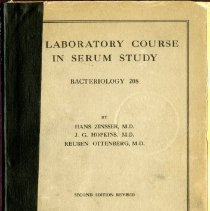 Image of 2016.25 - A Laboratory Course in Serum Study Bacteriology 208, 2nd Edition