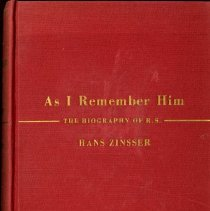 Image of 2016.25 - As I Remember Him: The Biography of R.S.