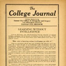 Image of 2008.58 - The College Journal, Vol. 11, No. 2