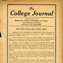 Image of 2008.58 - The College Journal, Vol. 11, No. 11