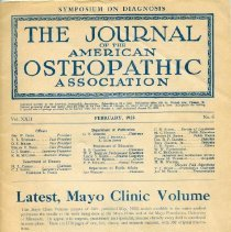Image of 2016.45 - Journal of the American Osteopathic Association Volume 22, 1923