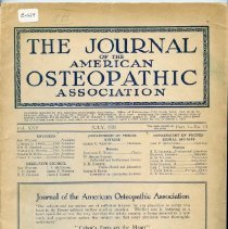 Image of 1980.363 - Journal of the American Osteopathic Association Volume 25, 1926