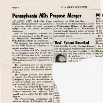 Image of 2008.58 - Pennsylvania MDs Propose Merger