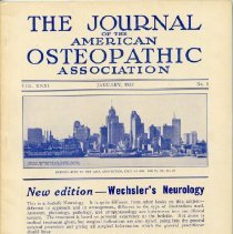 Image of 2016.45 - Journal of the American Osteopathic Association Volume 31, 1932