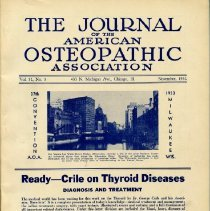 Image of 2016.45 - Journal of the American Osteopathic Association Volume 32, 1932