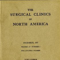 Image of 2016.25 - The Surgical Clinics of North America Volume 17, Number 6