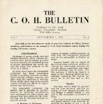 Image of C.O.H. News Bulletin, Vol. 1, No. 6