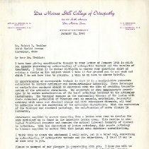 Image of 2008.58 - Letter to Robert E. Trular from Arthur D. Becker