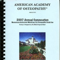 Image of 2008.58 - American Academy of Osteopathy 2007 Annual Convocation