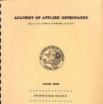Image of 2008.58 - Academy of Applied Osteopathy Lecture Notes