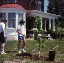 Image of 2011.50 - Ken Cherkosle and Dave Ring Planting Trees
