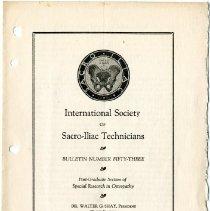 Image of 1990.1258 - Bulletin Number Fifty-Three of the International Society of Sacro-Iliac Technicians