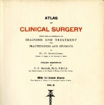 Image of Atlas of Clinical Surgery With Special Reference to Diagnosis and Treatment