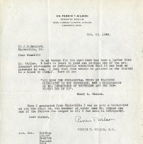 Image of 2017.06 - October 1942 Letter to J.S. Denslow from Perrin T. Wilson