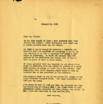Image of 2017.06 - January 1943 Letter to Perrin T. Wilson from J.S. Denslow