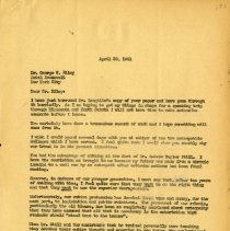 Image of April 1941 Letter to George W. Riley to J.S. Denslow