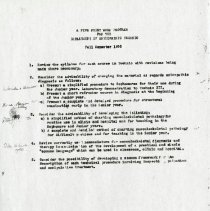 Image of 2004.275 - A Five-Point Work Program for the Department of Osteopathic Technic Fall Semester