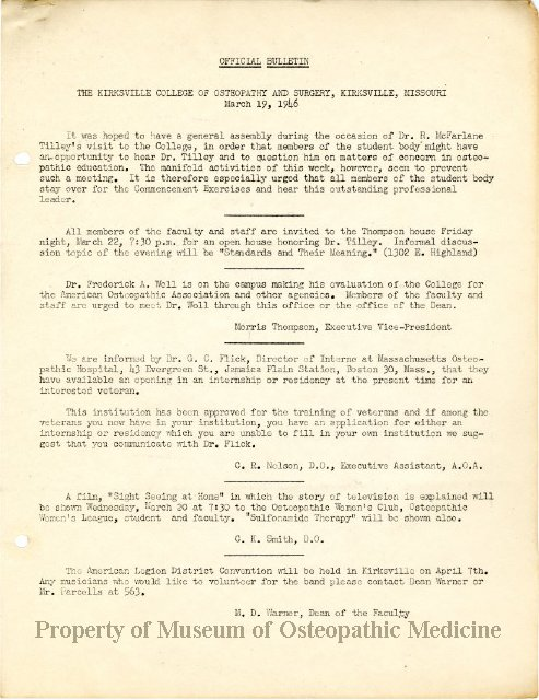 1980 371 - Official Bulletin: The Kirksville College of Osteopathy