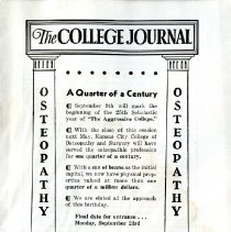 Image of 2008.58 - The College Journal, Vol. 24, No. 9