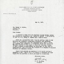 Image of May 1947 Letter to George E. Snyder from F.W. Shockley