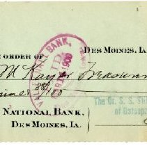 Image of 1990.31 - Check Number 1278 from The Dr. S.S. Still College and Infirmary of Osteopathy, Incorporated to Jno. McKay sr Treasurer